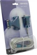 Переходник с USB на Com 9M(Male) + переходник 9F -25M (1.7m) F (KW-925)